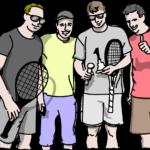 週末テニスプレイヤー